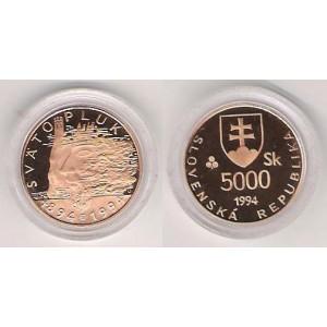 5000 Sk 1994 - 1100.výr.veľkomoravského panovníka Svätopluka