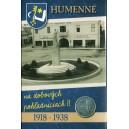 Humenné 1918-1938, sada 21 ks pohľadníc reprint 2018, žetón tlačený