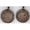 Rudolf II. 1/4 toliar 1602 KB, dobové uško