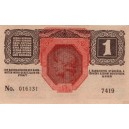 """1 K Eine Krone 1.12.1916, séria 7419, stav N/0, """"R"""""""