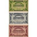 Maďarsko - lot 3 ks bankoviek 1946