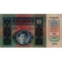 10 K Zehn kronen 2.1.1915, s.1078, stav 3-